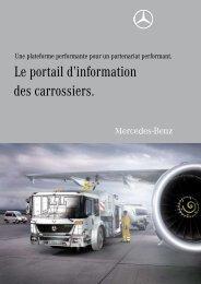 Le portail d'information des carrossiers. - Mercedes-Benz