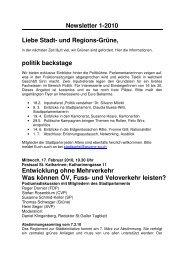 Newsletter 1-2010 Liebe Stadt- und Regions-Grüne, politik ...
