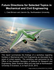 Future Directions for Selected Topics in Mechanical and Civil ...