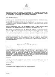 Reglamento de Régimen Interno Nuevo Mercado Municipal