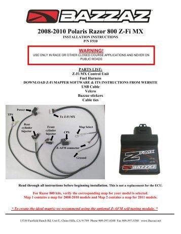 2008-2010 Polaris Razor 800 Z-Fi MX - Bazzaz