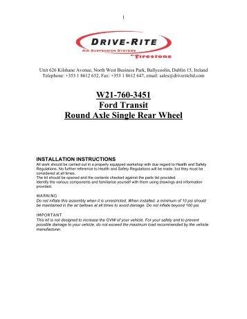 W21-760-3451 Ford Transit Round Axle Single Rear Wheel