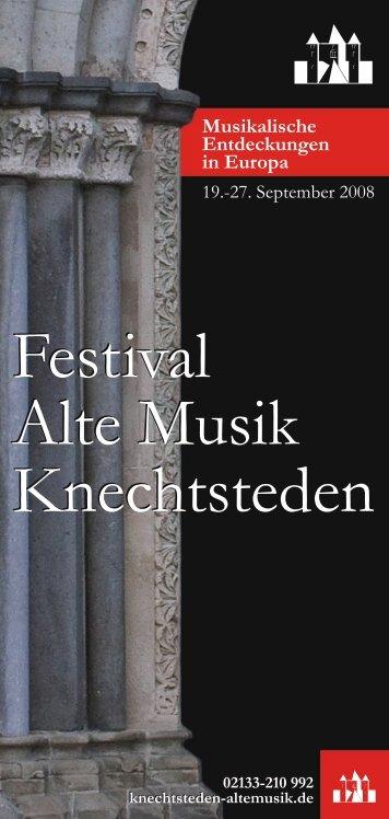 Programm als pdf-Broschüre - Festival - Alte Musik - Knechtsteden