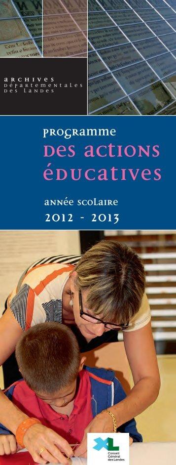 le programme des actions éducatives 2012-2013 - Archives ...