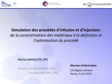 Simulation du procédé d'infusion - Training