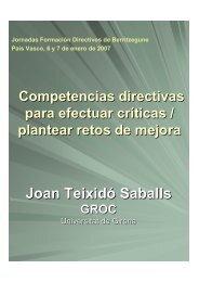 Competencias directivas para efectuar críticas y plantear ... - Groc