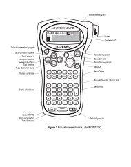 Figura 1 Rotuladora electrónica LabelPOINT 250 - DYMO