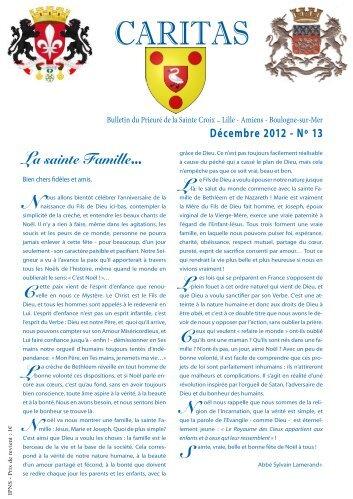 Caritas n° 13 de décembre 2012 - La Porte Latine