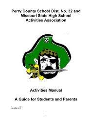 Student Athletic/Activities Handbook - Perry County School District 32