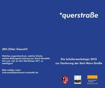 *querstraße - Kulturamt Neukölln