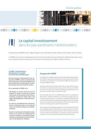 Le capital-investissement dans les pays partenaires méditerranéens