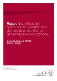 Rapport sur l'état des pratiques de la démocratie, des droits ... - AOMF