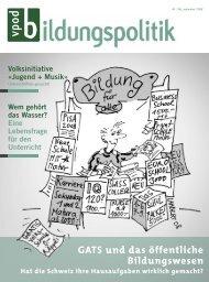 GATS und das öffentliche Bildungswesen - vpod-bildungspolitik
