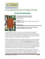 2011 Holiday Gift Guide Our Favorite Garden Books - Greater ...