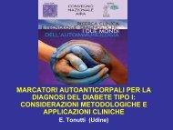 marcatori autoanticorpali per la diagnosi del diabete tipo i - Simel