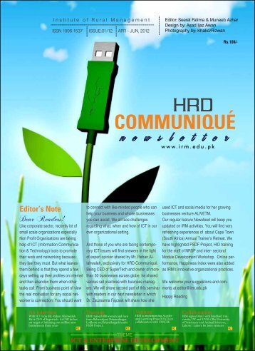 Communiqué Apr-Jun, 2012 - IRM