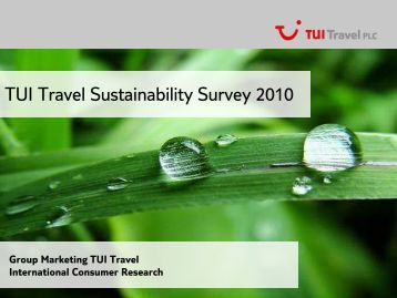 TUI Travel Sustainability Survey 2010 - LinkBC