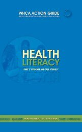 """Health Literacy Action Guide Part 2 """"Evidence And Case Studies"""""""