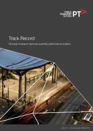 Track Record 50, January to March 2012 - Public Transport Victoria