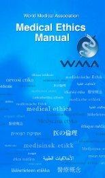 Medical Ethics Manual - World Health Communication Associates