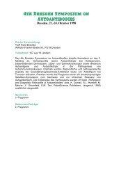 4th Dresden Symposium on Autoantibodies - (GFID) eV