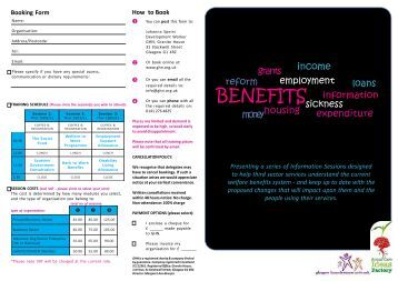 Welfare Reform Information and Booking Form - Glasgow ...