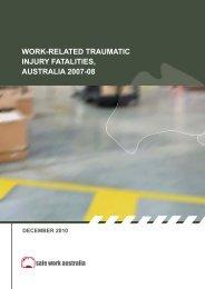 Work-related Traumatic Injury Fatalities Australia 2007-08
