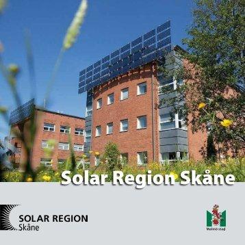 Broschyr Solar Region Skåne