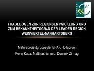 LEADER Maturaarbeit der HAK Hollabrunn, 2011 - LEADER Region ...