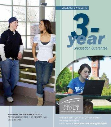 Graduation Guarantee - University of Wisconsin-Stout