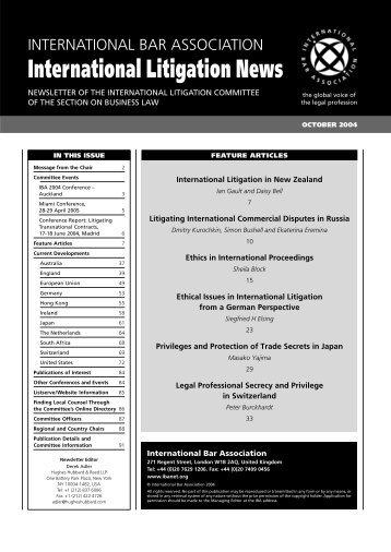 Ethics in International Proceedings - Torys