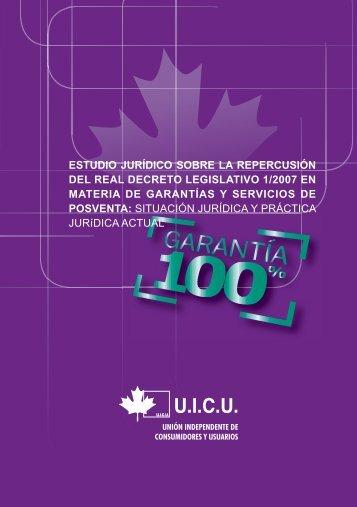 Estudio jurídico sobre la repercusión del Real Decreto Legislativo 1