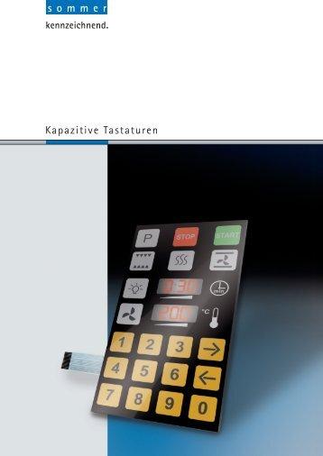 Kapazitive Tastaturen - sommer GmbH