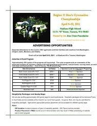 Region II Men's Gymnastics Championships April 8-10, 2011