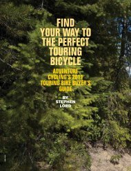 Finding Your Way to the Perfect Touring Bike - Adventure Cycling ...