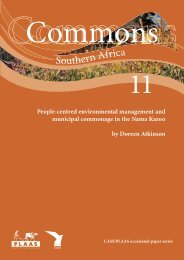 communal resource management and municipal commonage