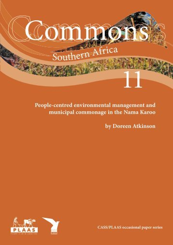 communal resource management and municipal commonage