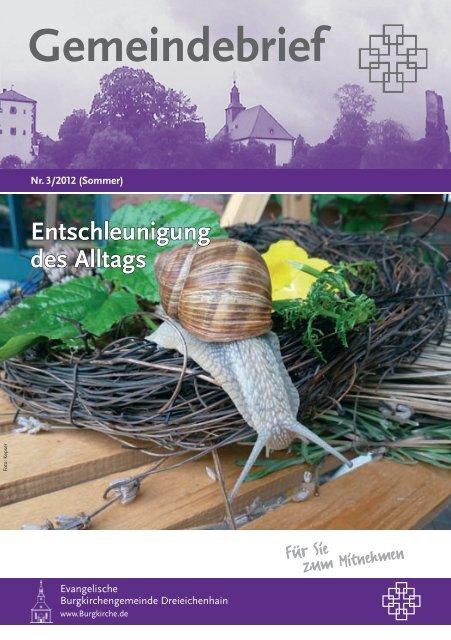 Entschleunigung des Alltags - Evangelische Burgkirchengemeinde ...
