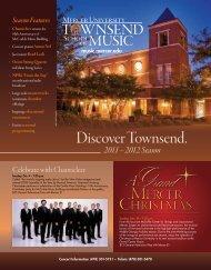 Discover Townsend. - Mercer University