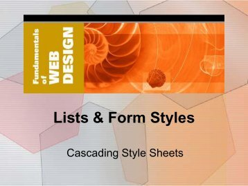 5. Lists & Form Styles