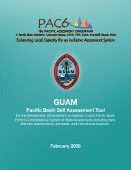 Guam Self Assessment and Jurisdiction Plan - The Pacific ...