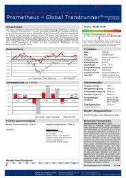 Fondsdaten Anlagestrategie Bericht des ... - Prometheus