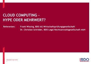 weiterlesen - BDO Cloud Consulting