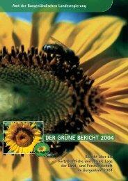 DER GRÜNE BERICHT 2004 - Burgenland.at