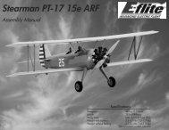 E-flite PT-17 Stearman manual - Great Hobbies
