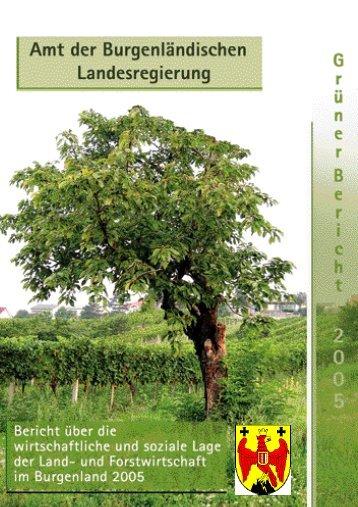 Grüner Bericht 2005 - Burgenland.at
