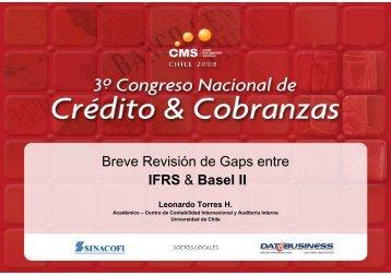 Breve Revisión de Gaps entre IFRS & Basel II - SINACOFI