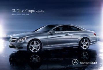 CL-Class Coupé price list - Mercedes-Benz