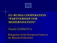 EU-Russia technical cooperation project - Eurocodes - Europa