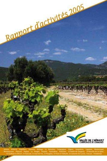 Rapport d'activités 2005 - Communauté de Communes Vallée de l ...